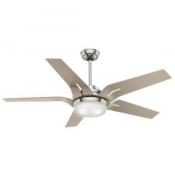 "Casablanca Correne 56"" LED Indoor Ceiling Fan w/ Remote in Nickel/Chrome"