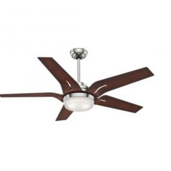 "Casablanca Correne 56"" LED Indoor Ceiling Fan in Brushed Nickel/Chrome"