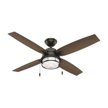"Hunter Ocala 52"" 2-Light LED Ceiling Fan in Bronze/Brown"