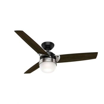 "Hunter Flare 48"" LED Indoor Ceiling Fan w/ Dark Walnut Blades"