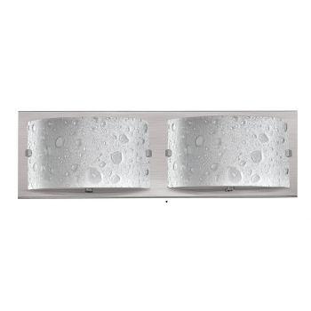 Hinkley Daphne 2-Light Bathroom Vanity Light in Brushed Nickel