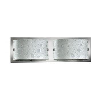 Hinkley Daphne 2-Light Bathroom Vanity Light in Chrome