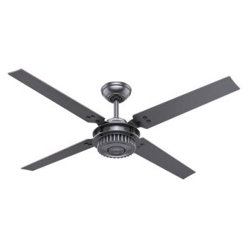 "Hunter Chronicle 54"" Ceiling Fan in Black"