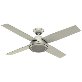 "Hunter Dempsey 52"" Indoor Ceiling Fan in White"