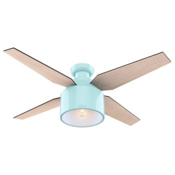 """Hunter Cranbrook 52"""" LED Indoor Low Profile Ceiling Fan in White"""