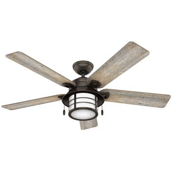 "Hunter Key Biscayne 54"" Indoor/Outdoor Ceiling Fan in Onyx Bengal"