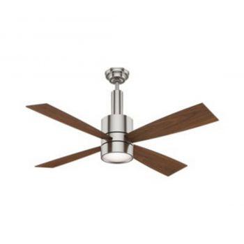 "Casablanca Bullet 54"" LED Indoor Ceiling Fan in Brushed Nickel/Chrome"