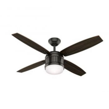 "Hunter Seahaven 52"" LED Ceiling Fan in Bronze/Brown"
