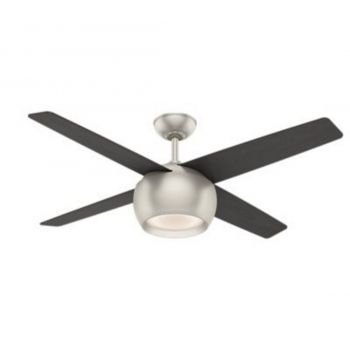 """Casablanca Valby 54"""" LED Indoor Ceiling Fan in Iron/Pewter"""
