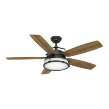"Casablanca Caneel Bay 56"" 2-Light LED Ceiling Fan in Black"