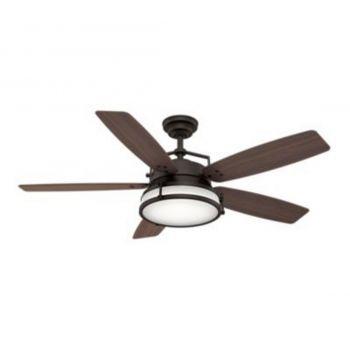 "Casablanca Caneel Bay 56"" 2-Light LED Ceiling Fan in Bronze/Brown"