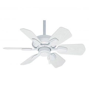 """Casablanca Wailea 31"""" Ceiling Fan in White"""