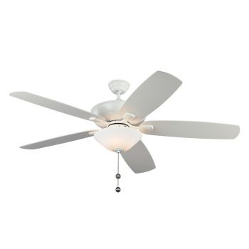 "Monte Carlo 60"" Colony Super Max Plus Damp Rated Ceiling Fan in Brushed Steel"