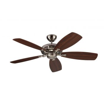 "Monte Carlo 52"" Designer Max Ceiling Fan in Brushed Steel"