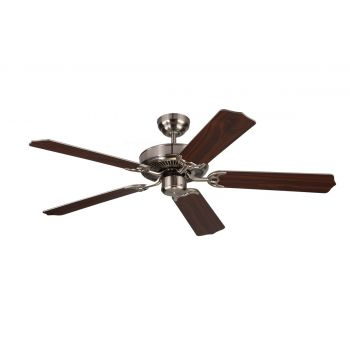 "Monte Carlo 52"" Homeowner Max Ceiling Fan in Brushed Steel"