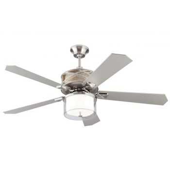 Monte Carlo 54in Piper Ceiling Fan in Brushed Steel