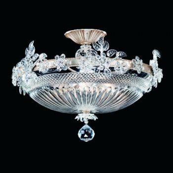 Savoy House Art Nouveau 6-Light Bohemian Crystal Chandelier in Silver