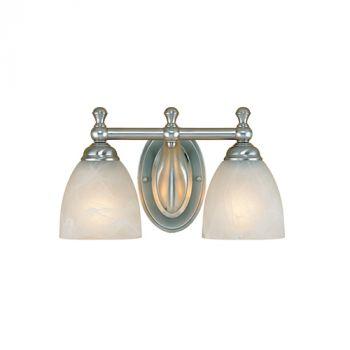 Millennium Lighting 600 Series 2-Light Bath Vanity in Satin Nickel