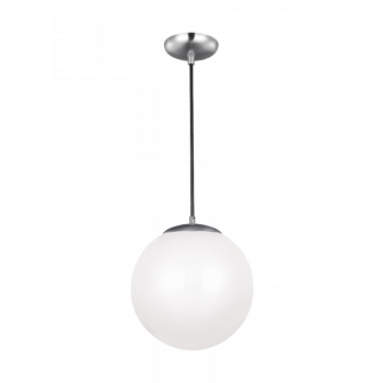 "Sea Gull Lighting Hanging Globe 14"" Pendant in Satin Aluminum"