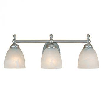 Millennium Lighting 600 Series 3-Light Bath Vanity in Satin Nickel