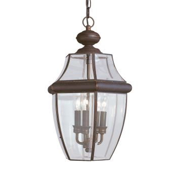 Sea Gull Lighting Lancaster 3-Light Outdoor Pendant in Antique Bronze