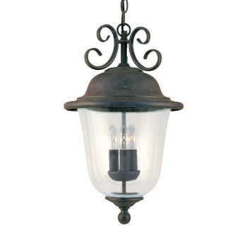 Sea Gull Lighting Trafalgar 3-Light Outdoor Pendant in Oxidized Bronze