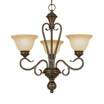 Millennium Lighting Devonshire 3-Light Chandelier in Burnished Gold