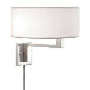 "Sonneman Quadratto 2-Lt 14"" Swing Wall Lamp - Nickel Finish"