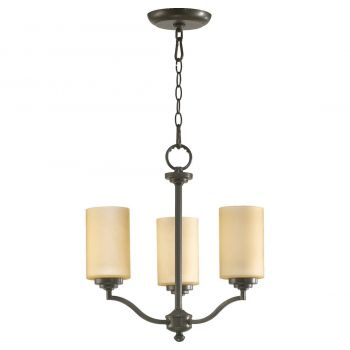 "Quorum International Atwood 3-Light 18"" Transitional Chandelier in Oiled Bronze"