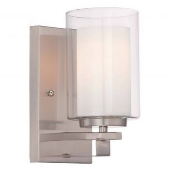 """Minka Lavery Parsons Studio 5"""" Bathroom Vanity Light in Brushed Nickel"""