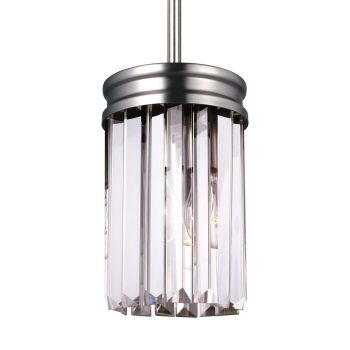 Sea Gull Lighting Carondelet 1-Light Mini-Pendant in Antique Brushed Nickel