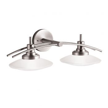 Kichler Structures 2-Light Bath Wall Mount in Brushed Nickel