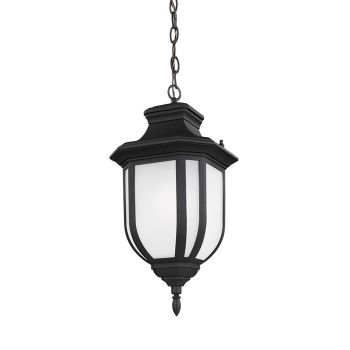 Sea Gull Lighting Childress 1-Light Outdoor Pendant in Black