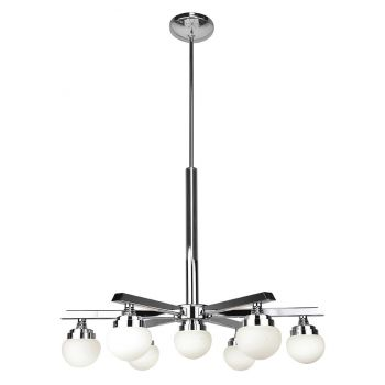 Access Lighting Classic 7-Light Dimmable LED Chandelier in Chrome