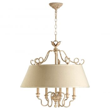"Quorum Salento 26.5"" 5-Light Pendant in Persian White"