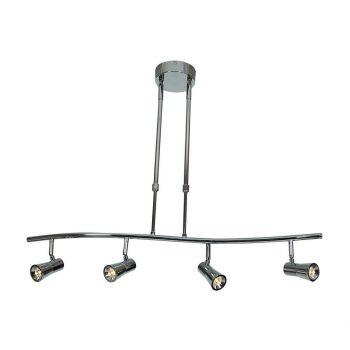 "Access Sleek 4-Light 33"" Pendant Light in Brushed Steel"