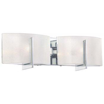 """Minka Lavery Clarte 2-Light 18"""" Bathroom Vanity Light in Chrome"""