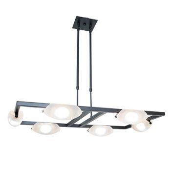 Access Lighting Nido 6-Light LED Chandelier in Oil Rubbed Bronze