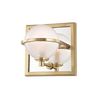 "Hudson Valley Axiom 6"" LED Bath Vanity in Aged Brass"