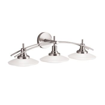 Kichler Structures 3-Light Bath Wall Mount in Brushed Nickel