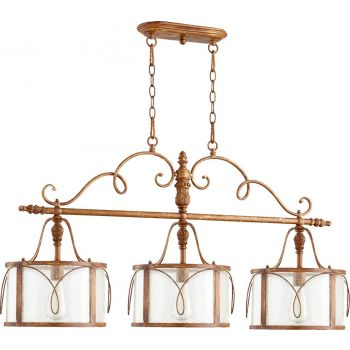 "Quorum Salento 42"" 3-Light Island Pendant in French Umber"