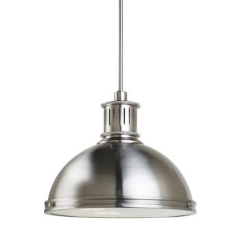 Sea Gull Lighting Pratt Street Metal 3-Light Pendant in Brushed Nickel