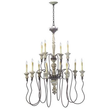 """Cyan Design Provence 39"""" 12-Light Chandelier in Carriage House"""