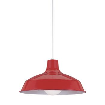 Sea Gull Lighting Painted Shade 1-Light Pendant in Red