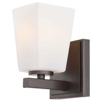 "Minka Lavery City Square 5"" Bathroom Vanity Light in Lathan Bronze"