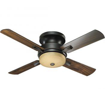 """Quorum Davenport 52"""" 3-Light Ceiling Fan in Old World"""
