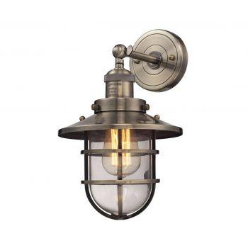 "ELK Seaport 13"" Wall Sconce in Antique Brass"