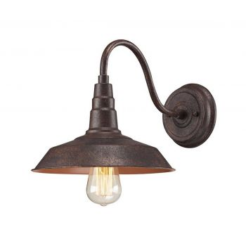 "ELK Urban Lodge 10"" Wall Sconce in Weathered Bronze"