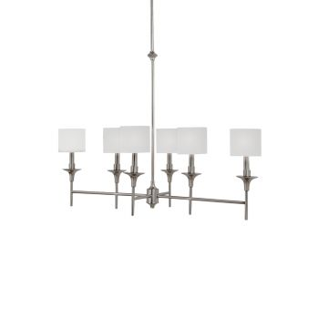 Sea Gull Lighting Stirling 6-Light Island Pendant in Brushed Nickel
