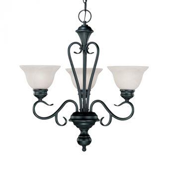 Millennium Lighting Devonshire 3-Light Chandelier in Black